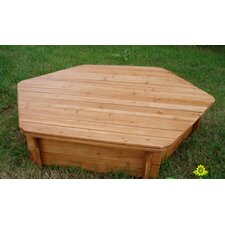 Wooden Lid for Hexagonal Sandbox