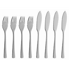 Karina 8 Piece Fish Flatware Set