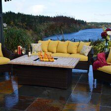 <strong>Outdoor Innovation</strong> Bellamar 6 Piece Deep Seating Group with Cushion