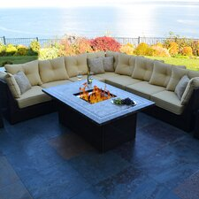 South Beach 12 Piece Deep Seating Group with Cushion