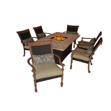 Luxum 7 Piece Fire-Dining Collection