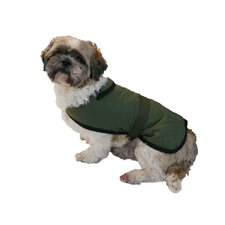 Quilted/Water Resistant Dog Coat in Green