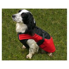 Water Resistant/Reflective Dog Coat in Red