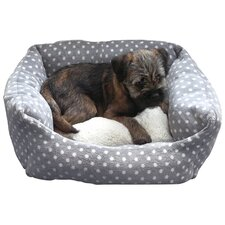 40 Winks Spot Dog Bed in Grey/Cream