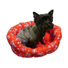 Ditsy Floral Dog Bed in Red