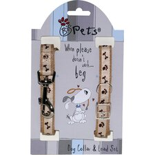 Born To Shop Small/Medium Dog Collar and Lead Set