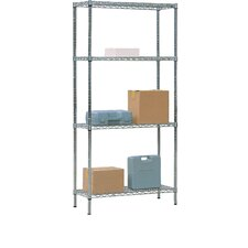 Wire Mesh 3 Shelf Shelving Unit