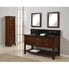"Mission Spa Premium 60"" Double Bathroom Vanity Set"