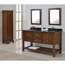 "Mission Spa 60"" Double Bathroom Vanity Set"