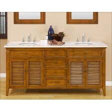 "Shutter 70"" Double Bathroom Vanity Set"