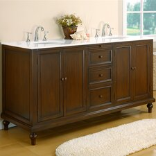 "<strong>J&J International LLC</strong> Classic 70"" Double Bathroom Vanity Set"