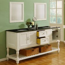 "<strong>J&J International LLC</strong> Mission Turnleg 70"" Double Bathroom Vanity Set"
