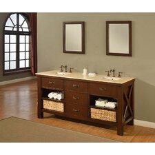 """Xtraordinary 70"""" Espresso Spa Double Vanity Set"""