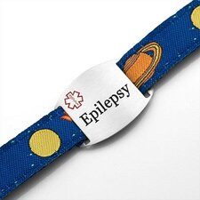 Children's Epilepsy Space Mission Sport Strap ID Bracelet
