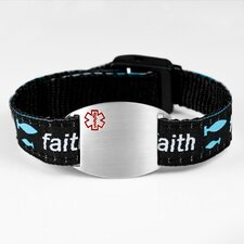 Faith Sport Strap Bracelet with Medical ID Tag