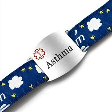 Children's Asthma Medical ID Dream Sport Strap Bracelet