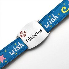 Children's Diabetes Wish Sport Strap ID Bracelet