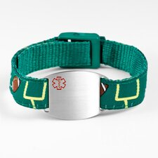 Children's Football Sport Strap Bracelet with Medical ID Tag