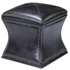 <strong>Ultimate Accents</strong> Croco Storage Ottoman