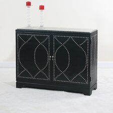 <strong>Ultimate Accents</strong> Madrid Nailhead Console Cabinet