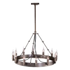 Limestone 12 Light Pendant