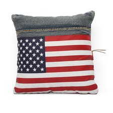 Cowboy Denim USA Flag Cushion