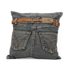 Denim Back Jean Cushion