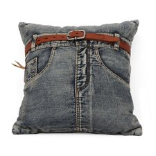 Denim Front Jean Cushion