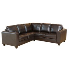 <strong>Global Furniture Direct</strong> Contemporary Bonded Leather 5 Seater Corner Sofa