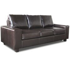 Pocket Sprung Bonded Leather 3 Seater Sofa