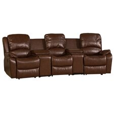 Cinema Style Bonded Leather 3 Seater Sofa