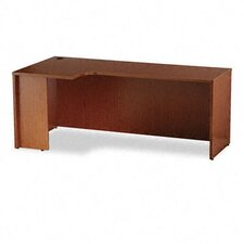 Laminated Credenza Shell with Curved Extension and Square Edge