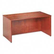 Veneer Executive Desk Shell with Beaded Edge Detail