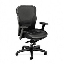 High-Back Leather/Mesh Office Chair