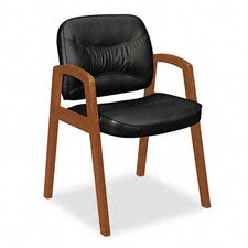 Guest Chair with Leather Back
