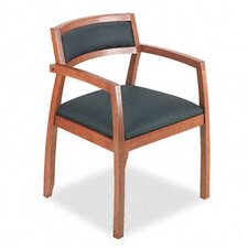 Guest Chairs with Leather Seat/Upholstered Back