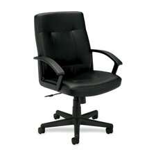 <strong>Basyx by HON</strong> Leather Mid-Back Executive Chair