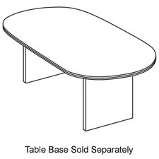 <strong>Basyx by HON</strong> Oval Table Top, w/ Duo Edge, Bourbon Cherry