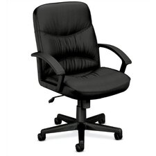 Leather Office Chair with Loop Arms