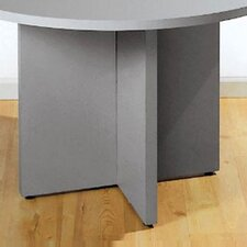 Laminate X-Base for Round Conference Table Tops