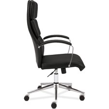<strong>Basyx by HON</strong> High Back Leather Executive Task Chair with Arms
