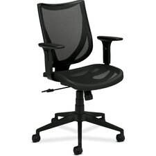 <strong>Basyx by HON</strong> Mid-back Mesh Chair with Arms