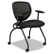 <strong>Basyx by HON</strong> VL300 Series Nesting Guest Chair with Arms (Set of 2)
