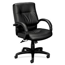 <strong>Basyx by HON</strong> Mid-Back Leather Managerial Chair