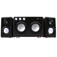 2.1 Soundstage Speaker with Dual Subwoofer and Karaoke Inputs