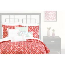 3 Piece Comforter Set in Coral
