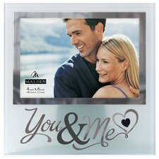 "4"" x 6"" You and Me Silver Glass Picture Frame"