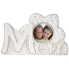 Mom Floral Ceramic Scripts Picture Frame