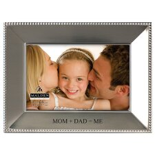 "4"" x 6"" Mom and Dad = Me Beaded Picture Frame"
