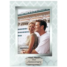 "5"" x 7"" Our Anniversary Glass Picture Frame"